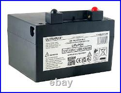 12v 22ah, 36 Hole Lithium Golf Trolley Battery Fits Powakaddy With Charger & Usb