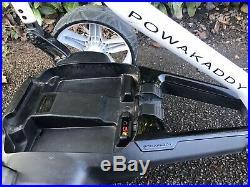 2015 Powakaddy FW3 Electric golf Trolley 18 Hole Lithium Battery Cover -VGC