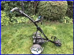 2018 Motocaddy S5 Connect Electric Golf Trolley, 18 Hole Lithium Battery, extras