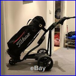 2019 Powakaddy FW3s Black Electric Golf Trolley & 36 Hole Lithium Battery