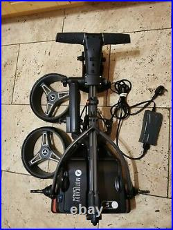 2021 Motocaddy S1 Electric Golf Trolley, 18 hole lithium, Brolly Holder, MINT A1