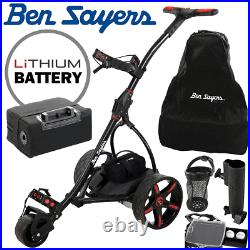 Ben Sayers Lithium Battery Electric Golf Trolley & Free Accessories Worth £100