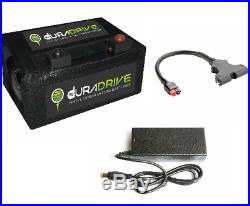 Duradrive 27-36 Hole Lithium Golf Trolley Battery, Charger & Bag