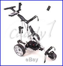 Elektro Golf Trolley CADDYONE 450 silber inkl. 20AH-Lithium-Akku / Fernbedienung