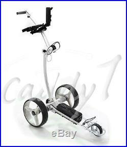 Elektro Golf Trolley CADDYONE 700 Silber mit Lithium-Akku