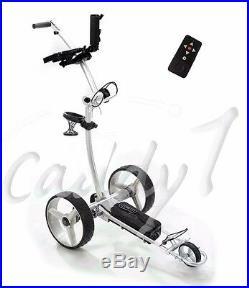 Elektro Golf Trolley CADDYONE 750 mit Lithium-Akku in silber