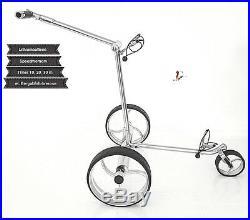 Elektro Golf Trolley Lithium-Batterie, Edelstahl, Speed GE Delux Brake