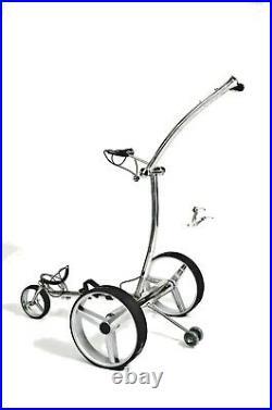 Elektro Golf Trolley Lithium-Batterie, Edelstahl, Speed SE Deluxe Fernbedienung