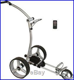 Elektro Golf Trolley PGE 3.0, 12V/20Ah Lithium, Funkfernbedienung, silber