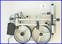 Elektro Golftrolley mit Lithium-Batterie Birdie brake silber Aluminium