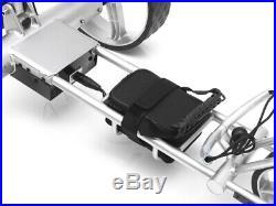 Elektro Golftrolley mit Lithium-Batterie Birdie brake silbern Aluminium