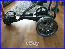 Fw5s Electric Golf Trolley Gun Metal With Extended Lithium And Carry Case