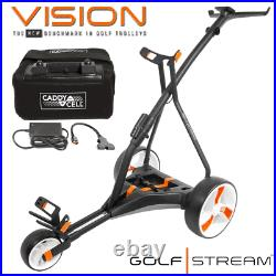 Golfstream Vision Electric Golf Trolley +18 Hole Lithium Battery & Charger
