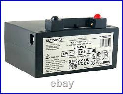 Lithium 27 Hole Golf Trolley 12v 18ah Superior Power Powakaddy Battery With Usb