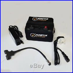 Lithium Golf Battery 36 Hole, 22AH, Case & Charger for ProRider Trolley connect