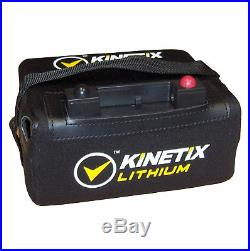 Lithium Golf Trolley Battery 18-27 Hole, 12V 16AH with T-Bar, Case & Charger