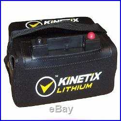 Lithium Golf Trolley Battery 36 Hole, 12V 22AH with T-Bar, Case & Charger