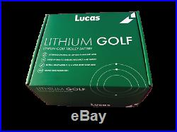 Lucas 18-27 Hole LiFePO4 Lithium Golf Trolley 16ah Battery, Charger Cable & Bag