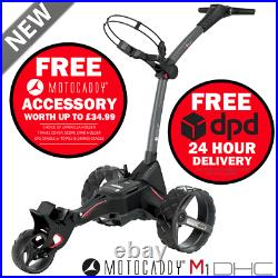 Motocaddy 2020 M1 Dhc Golf Trolley +36 Hole Lithium Battery +free Gift