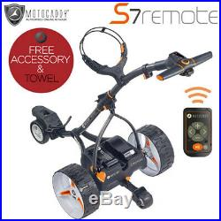 Motocaddy'2020' S7 Remote Lithium Electric Golf Trolley + Free Gift + Towel
