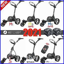Motocaddy 2021 Electric Golf Trolley Range M1, M3 Gps, M5 Gps, M7 Remote & Mtech