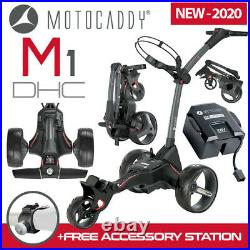 Motocaddy M1 DHC Graphite Electric Golf Trolley 2020 Extended Lithium