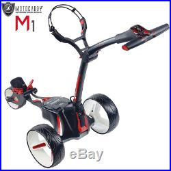 Motocaddy M1 Electric Golf Trolley +18 Hole Lithium Battery & Charger / Black