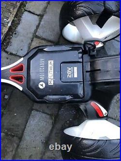 Motocaddy M1 Electric Golf Trolley 36 Hole Lithium Battery, Case, Umbrella Holder