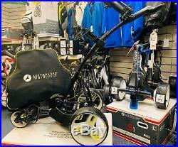 Motocaddy M1 Pro Electric Golf Trolley 36 Hole Lithium- Case & Umbrella Holder