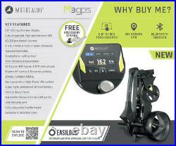 Motocaddy M3 GPS Electric Golf Trolley Ultra Lithium 36 Hole NEW! 2021