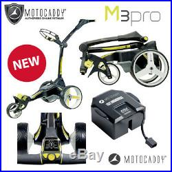 Motocaddy M3 Pro Electric Golf Trolley Graphite Extended Lithium NEW! 2019