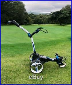 Motocaddy M5 Connect Golf Trolley White with 18 Hole Lithium Battery + Charger