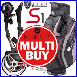 Motocaddy Multibuy 2019 S1 18 Hole Lithium Golf Trolley +club Series Golf Bag