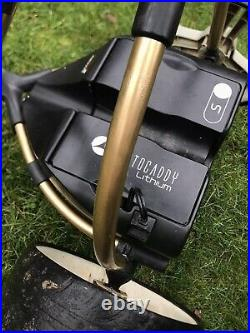 Motocaddy S1 Electric Golf Trolley Gold finish 2 yrs old Lithium Battery
