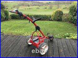 Motocaddy S1 Electric Trolley LITHIUM 18 Holes Pearl Red 6 Mths Old