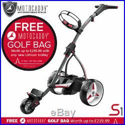 Motocaddy S1 Golf Trolley +36 Hole Lithium Battery +free Golf Bag & Accessory