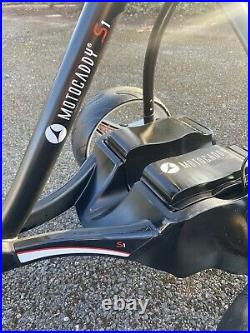 Motocaddy S1 electric golf trolley With Extended 36 Hole Ultra Lithium Battery