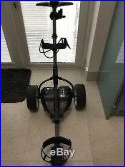 Motocaddy S3 Pro Lithium Electric Golf Trolley with Mizuno cart Bag
