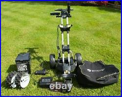 Motorcaddy M3 Pro Electric Golf Trolley, Lithium 18 hole battery and accessories