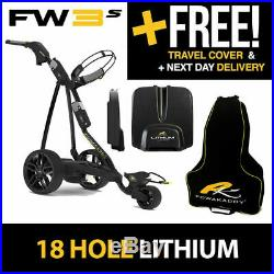 NEW! 2019 PowaKaddy FW3s Electric Trolley Black 18 Hole Lithium
