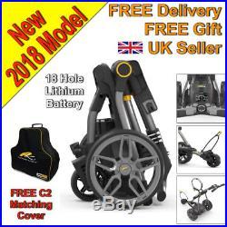 New 2018 Powakaddy Compact C2i Electric Golf Trolley 18 Hole Lithium UK Seller