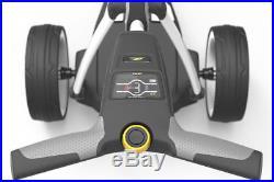 New 2018 Powakaddy FW3s White Electric Golf Trolley & 18 Hole Lithium Battery