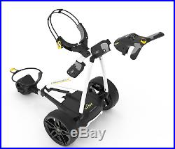 New 2019 Powakaddy FW3s White Electric Golf Trolley and 18 Hole Lithium Battery