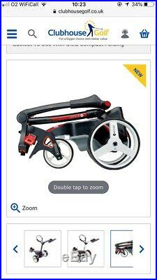 New White M1 Motocaddy Lithium Electric Golf Trolley