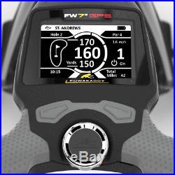POWAKADDY 2019 FW7s GPS GOLF TROLLEY +18 HOLE LITHIUM BATTERY +FREE TRAVEL BAG