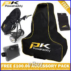 POWAKADDY FW5s LTD EDITION WHITE ELECTRIC GOLF TROLLEY +FREE £100 ACCESSORY PACK