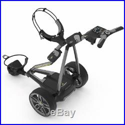 POWAKADDY FW7s EBS GOLF TROLLEY +18 HOLE LITHIUM BATTERY +FREE TRAVEL COVER