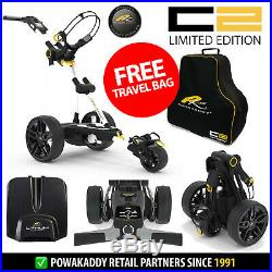 PowaKaddy C2 Limited Electric Golf Trolley White 18 Hole Lithium +FREE GIFT