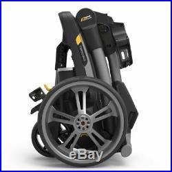 PowaKaddy CT6 GPS/EBS Gun Metal Electric Golf Trolley 36 Lithium NEW! +FREE BAG