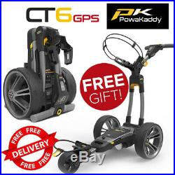PowaKaddy CT6 GPS Electric Golf Trolley Lightweight New 2020 Model & Free Gift